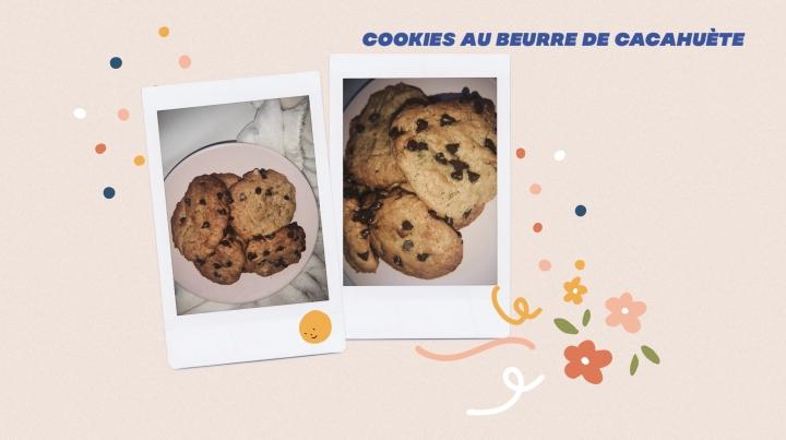 COOKIES AU BEURRE DE CACHUETE ♡(RECETTE)